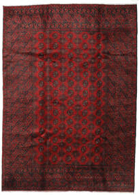 Afghan Rug 203X280 Authentic  Oriental Handknotted Dark Red/Dark Brown (Wool, Afghanistan)