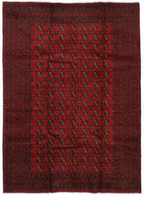 Afghan Rug 208X282 Authentic  Oriental Handknotted Dark Red/Crimson Red (Wool, Afghanistan)