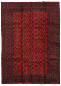Afgan Dywan 204X286 Orientalny Tkany Ręcznie Ciemnoczerwony/Ciemnobrązowy/Czerwony (Wełna, Afganistan)