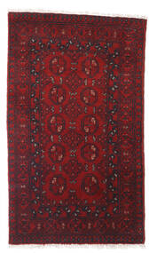 Afghan Rug 77X129 Authentic  Oriental Handknotted Dark Red (Wool, Afghanistan)