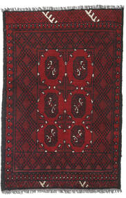 Afghan Rug 77X115 Authentic  Oriental Handknotted Dark Red/Black (Wool, Afghanistan)