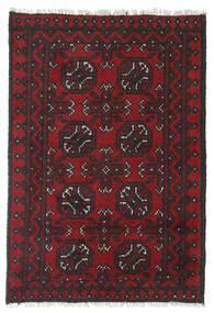 Afgan Dywan 75X108 Orientalny Tkany Ręcznie Ciemnoczerwony/Czarny (Wełna, Afganistan)