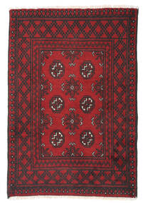 Afghan Rug 79X115 Authentic  Oriental Handknotted Dark Red/Dark Grey (Wool, Afghanistan)