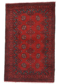 Afghan Rug 81X131 Authentic  Oriental Handknotted Dark Red/Dark Brown (Wool, Afghanistan)