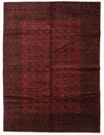 Afghan Matta 250X339 Äkta Orientalisk Handknuten Mörkröd/Mörkbrun Stor (Ull, Afghanistan)