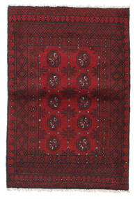 Afghan Rug 97X144 Authentic  Oriental Handknotted Dark Red/Black (Wool, Afghanistan)