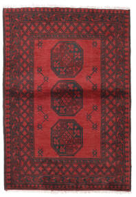 Afghan Tapis 101X144 D'orient Fait Main Rouge Foncé/Rouge (Laine, Afghanistan)