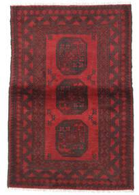 Afgan Dywan 98X144 Orientalny Tkany Ręcznie Ciemnobrązowy/Ciemnoczerwony/Czerwony (Wełna, Afganistan)
