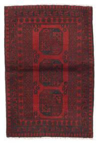 Afghan Tapis 100X148 D'orient Fait Main Rouge Foncé/Marron Foncé (Laine, Afghanistan)