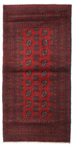 Afghan Rug 101X201 Authentic  Oriental Handknotted Dark Red/Dark Brown (Wool, Afghanistan)
