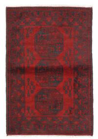 Afgan Dywan 100X146 Orientalny Tkany Ręcznie Ciemnoczerwony/Ciemnobrązowy (Wełna, Afganistan)