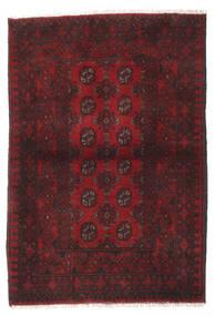 Afgan Dywan 100X145 Orientalny Tkany Ręcznie Ciemnoczerwony/Czarny (Wełna, Afganistan)