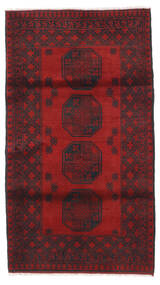 Afghan Rug 107X189 Authentic  Oriental Handknotted Dark Red/Black (Wool, Afghanistan)