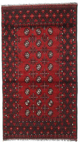 Afghan Rug 108X190 Authentic  Oriental Handknotted Dark Red/Black (Wool, Afghanistan)