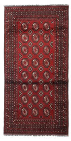 Afghan Rug 101X200 Authentic  Oriental Handknotted Dark Red/Dark Brown (Wool, Afghanistan)