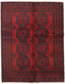 Afghan Rug 151X192 Authentic  Oriental Handknotted Dark Brown/Dark Red (Wool, Afghanistan)