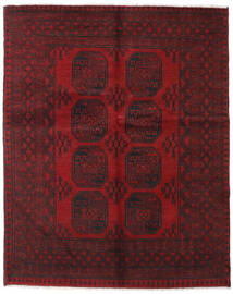 Afghan Rug 152X190 Authentic  Oriental Handknotted Dark Red/Dark Brown (Wool, Afghanistan)
