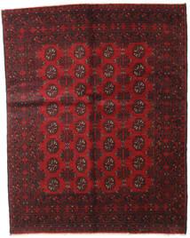 Afghan Teppich  149X188 Echter Orientalischer Handgeknüpfter Dunkelrot/Dunkelbraun (Wolle, Afghanistan)