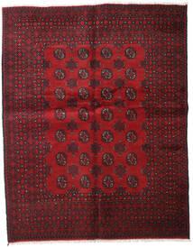 Afghan Tapis 154X192 D'orient Fait Main Rouge Foncé/Marron Foncé (Laine, Afghanistan)