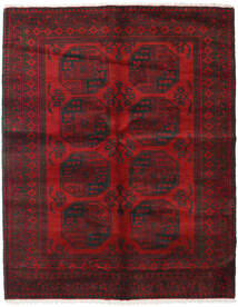Afghan Teppich  152X192 Echter Orientalischer Handgeknüpfter Dunkelrot/Dunkelbraun/Rot (Wolle, Afghanistan)