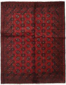 Afghan Teppich 151X190 Echter Orientalischer Handgeknüpfter Dunkelrot (Wolle, Afghanistan)