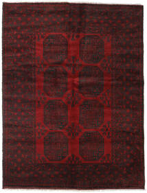 Afghan Rug 148X194 Authentic  Oriental Handknotted Dark Brown/Dark Red (Wool, Afghanistan)