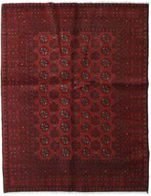 Afghan Teppich 149X190 Echter Orientalischer Handgeknüpfter Dunkelrot (Wolle, Afghanistan)
