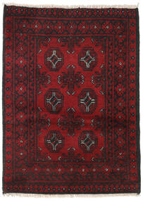 Afghan Rug 76X113 Authentic  Oriental Handknotted Dark Red/Black (Wool, Afghanistan)