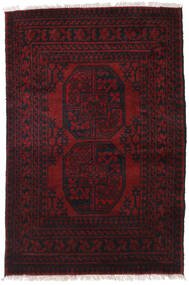 Afghan Rug 84X125 Authentic  Oriental Handknotted Dark Red (Wool, Afghanistan)