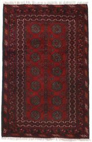 Afghan Tappeto 79X120 Orientale Fatto A Mano Rosso Scuro/Nero (Lana, Afghanistan)