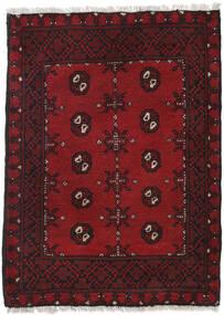 Afghan Rug 84X114 Authentic  Oriental Handknotted Dark Red/Dark Brown (Wool, Afghanistan)