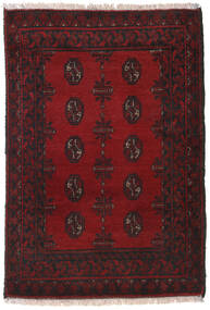 Afghan Rug 84X119 Authentic  Oriental Handknotted Dark Red/Black (Wool, Afghanistan)