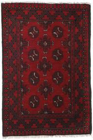 Afghan Covor 78X115 Orientale Lucrat Manual Roșu-Închis/Maro Închis (Lână, Afganistan)