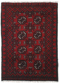 Afghan Rug 76X105 Authentic  Oriental Handknotted Dark Red/Black (Wool, Afghanistan)