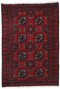 Afgan Dywan 78X110 Orientalny Tkany Ręcznie Czarny/Ciemnoczerwony (Wełna, Afganistan)