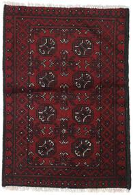 Afghan Rug 76X109 Authentic  Oriental Handknotted Dark Red/Black (Wool, Afghanistan)