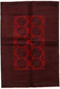 Afghan Rug 165X237 Authentic  Oriental Handknotted Dark Red (Wool, Afghanistan)