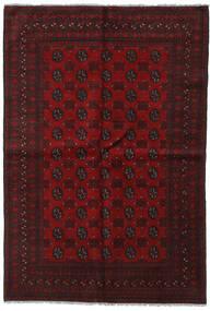 Afghan Tappeto 159X230 Orientale Fatto A Mano Marrone Scuro/Rosso Scuro (Lana, Afghanistan)