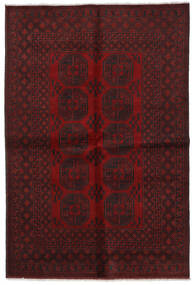 Afghan Rug 164X240 Authentic  Oriental Handknotted Dark Red/Dark Brown (Wool, Afghanistan)