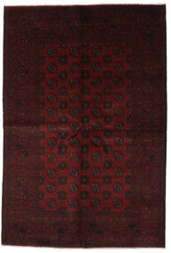 Afghan Rug 164X241 Authentic  Oriental Handknotted Dark Red (Wool, Afghanistan)