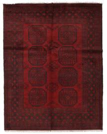 Afgan Dywan 143X183 Orientalny Tkany Ręcznie Ciemnoczerwony (Wełna, Afganistan)