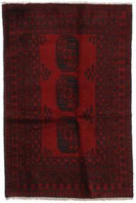 Afgan Dywan 126X189 Orientalny Tkany Ręcznie Ciemnoczerwony (Wełna, Afganistan)