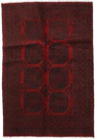 Afgan Dywan 124X180 Orientalny Tkany Ręcznie Ciemnoczerwony (Wełna, Afganistan)