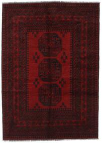 Afghan Matto 130X180 Itämainen Käsinsolmittu Tummanruskea/Tummanpunainen (Villa, Afganistan)