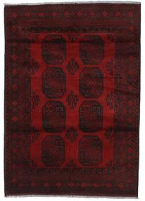 Afgan Dywan 129X178 Orientalny Tkany Ręcznie Ciemnoczerwony (Wełna, Afganistan)