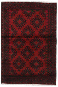 Afghan Rug 120X176 Authentic  Oriental Handknotted Dark Brown/Crimson Red/Dark Red (Wool, Afghanistan)