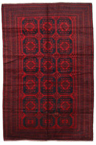 Baluch Rug 195X295 Authentic  Oriental Handknotted Dark Red/Crimson Red (Wool, Afghanistan)