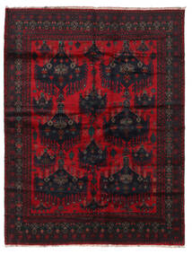 Baluch Rug 205X270 Authentic Oriental Handknotted Black/Dark Red (Wool, Afghanistan)
