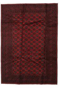 Afghan Tapis 197X281 D'orient Fait Main Marron Foncé/Rouge Foncé (Laine, Afghanistan)