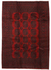 Afghan Rug 201X284 Authentic  Oriental Handknotted Dark Red/Crimson Red (Wool, Afghanistan)